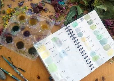 Using Natural Pigments: Tracing Nature's Lines